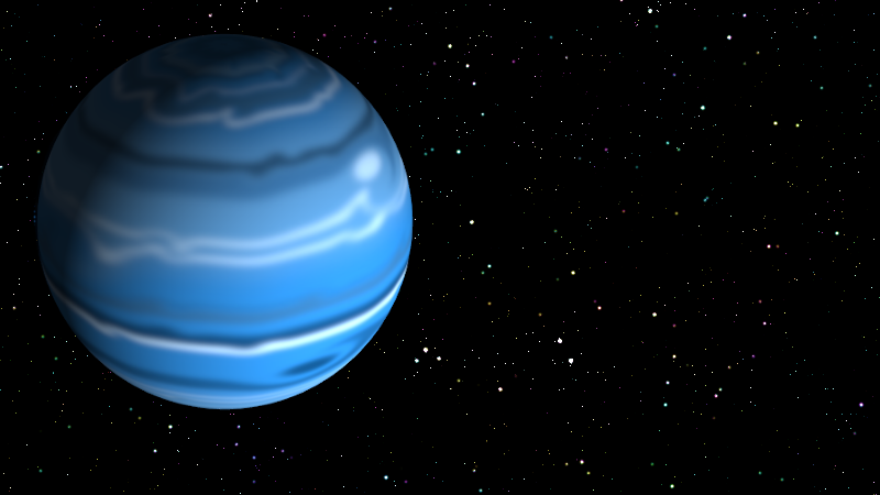 By rotating the polar region into view, the planet takes on a definite three-dimensional appearance.