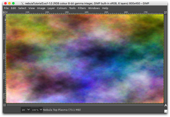 Appearance of the image after changing the Nebula Top Plasma layer Mode to Overlay