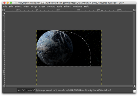 Selecting a circle, feathering the edges and filling the selection with black