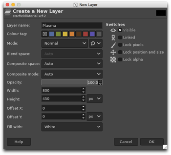 Creating a new white layer called Plasma