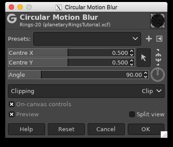 Applying the Circular Motion Blur filter