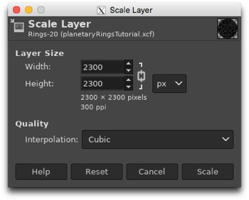 Scaling the Rings layer to make it slightly smaller