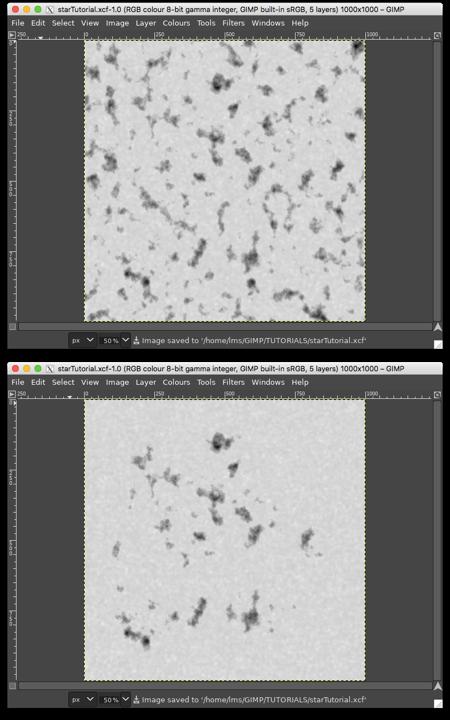 Top: original, Bottom: after erasing