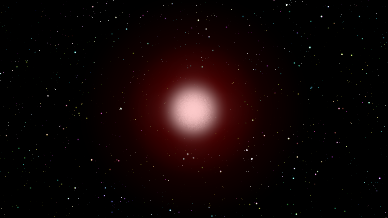 A glowing red star